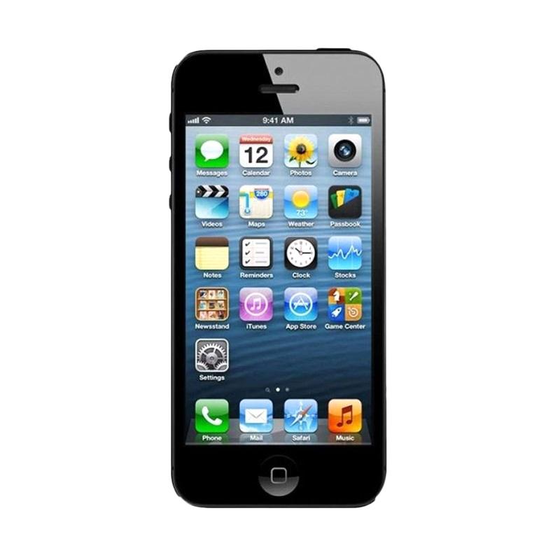 Diskon Apple iPhone 5 64 GB Smartphone – Black [Refurbish]
