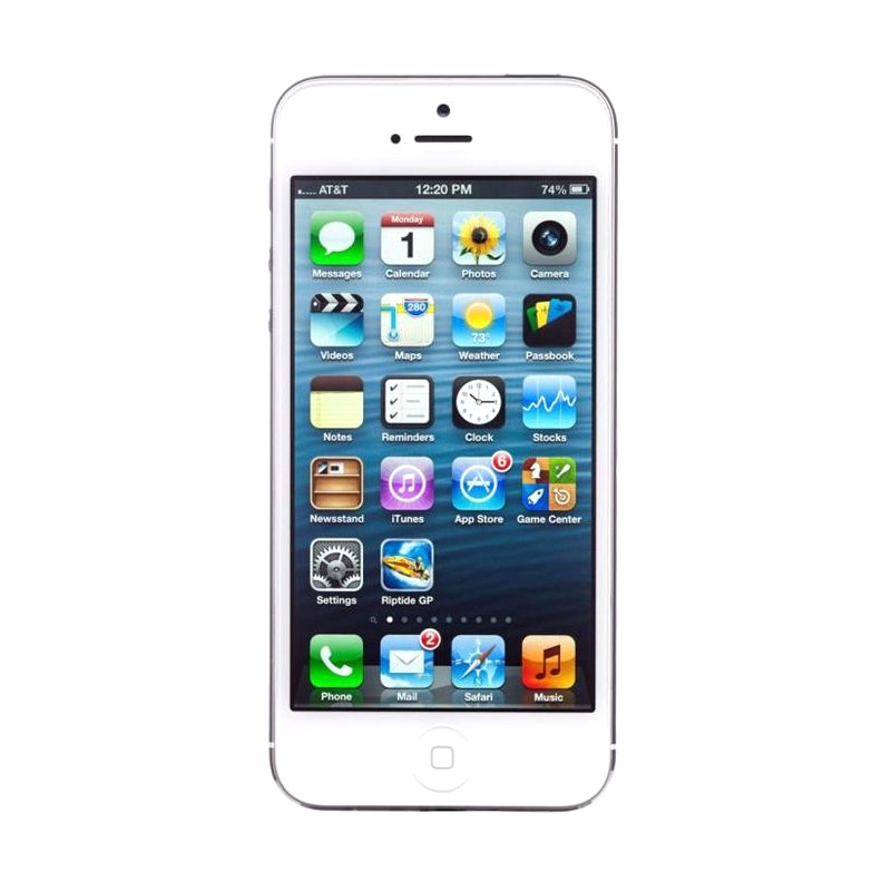 Apple iPhone 5 64 GB White Smartphone [Refurbished/Garansi Distributor]