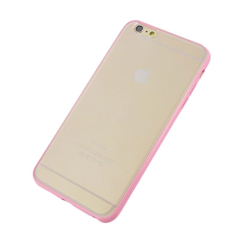 The King Tech Bumper List Pink Casing for Iphone 6+