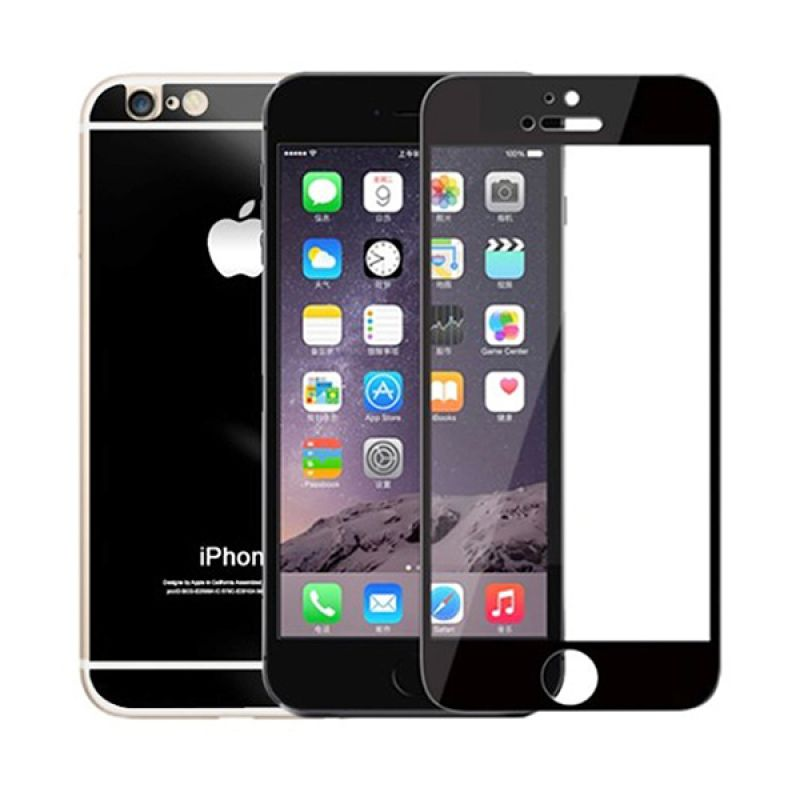 The King Tech Mirror 2 in 1 Black Tempered Glass for Iphone 5
