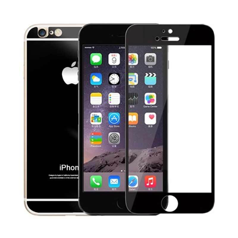 The King Tech Mirror 2 in 1 Black Tempered Glass for Iphone 4