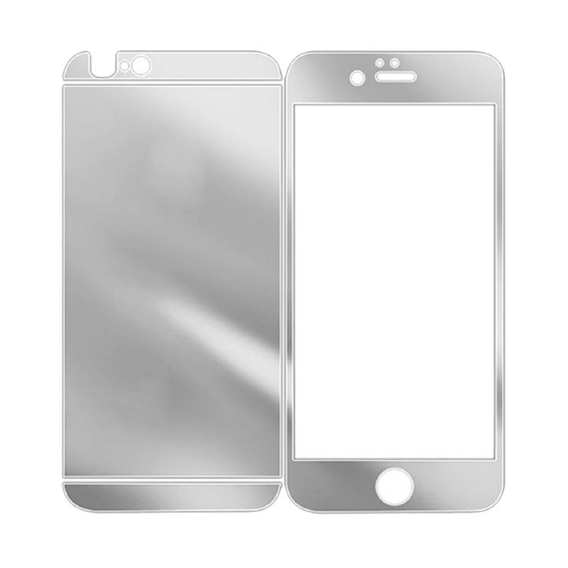 The King Tech Mirror 2in1 Silver Tempered Glass for Iphone 5