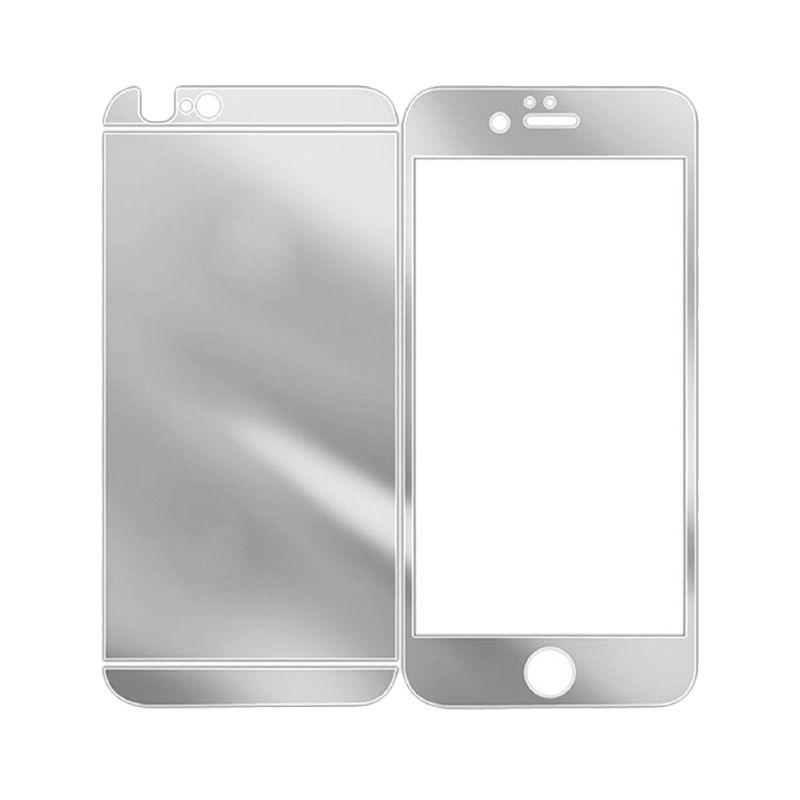 The King Tech Mirror 2in1 Silver Tempered Glass  for Iphone 4