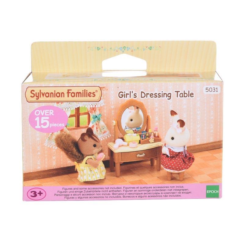 Jual sylvanian families girls dressing table mainan anak for Sylvanian families beauty salon dressing table
