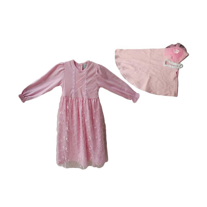 Jual Baby Zakumi Baju Gamis Muslim Anak Perempuan Pink
