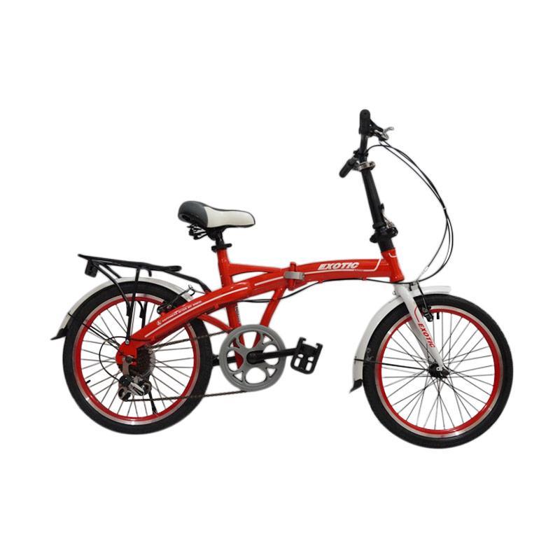Jual EXOTIC Folding Bike Sepeda Lipat Merah [20 Inch