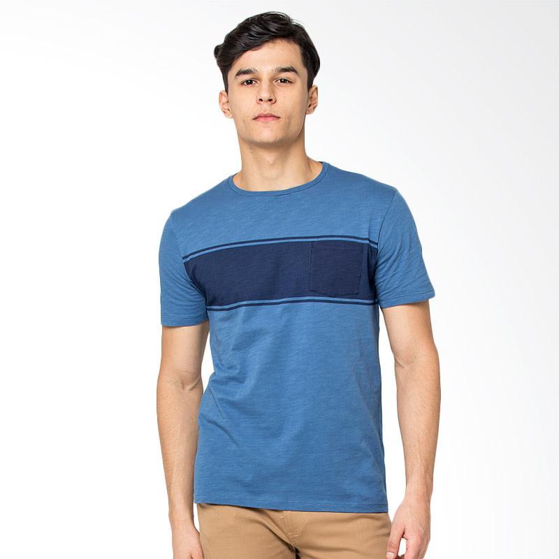 Jual The Executive Short Sleeve T-Shirts Pria - Blue