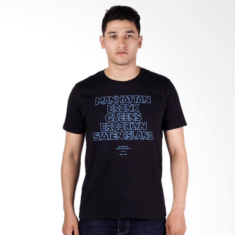 Jual dsvn brooklyn printed t shirt pria black online for T shirt printing brooklyn