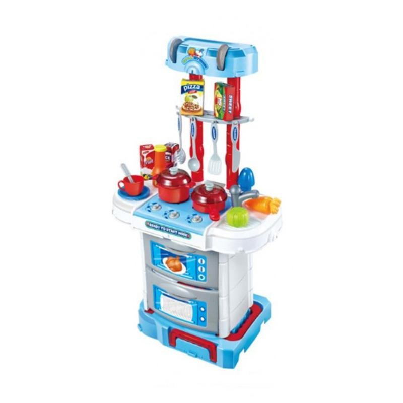 Jual st4rshop q03r deluxe kitchen set koper mainan anak for Kitchen set mainan