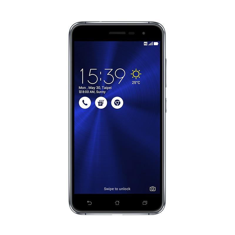 jual asus zenfone 3 ze552kl smartphone   black 64gb ram