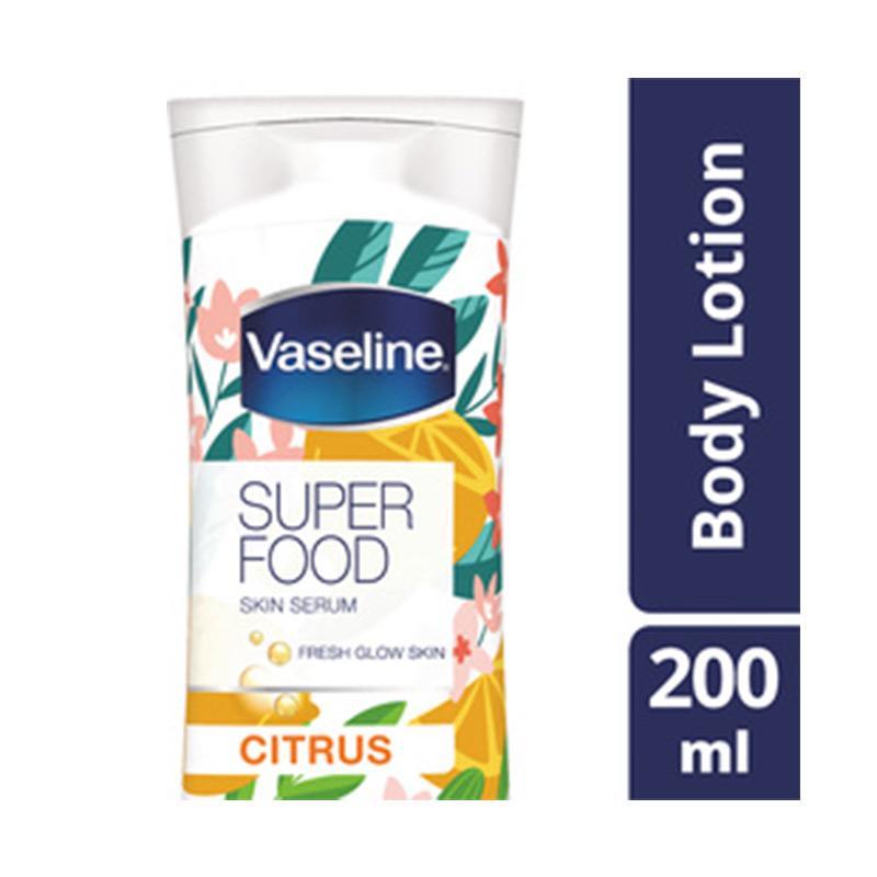 Jual Vaseline Superfood Skin Serum Citrus Body Lotion [200 ...