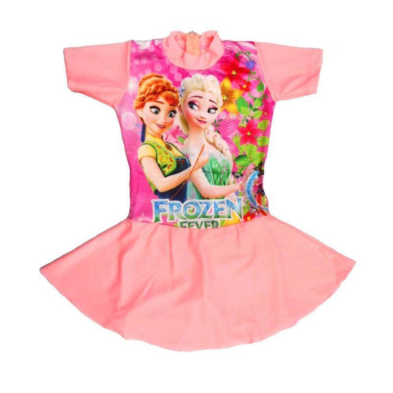 Jual Nice Baju Renang Rok Anak Motif Frozen Fever Peach