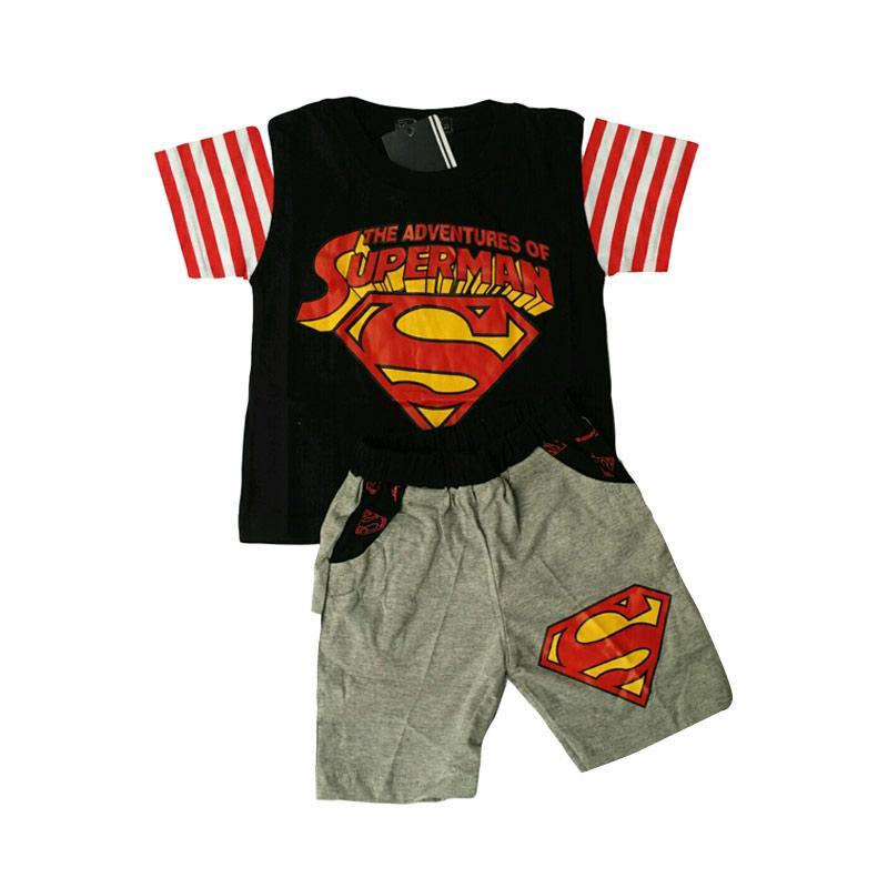 Jual Setelan Baju Anak Laki Laki Superman Hitam Online