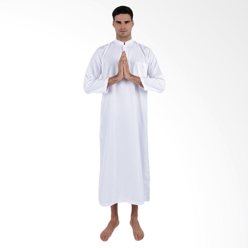 Jual Elfs Shop 5f17061 Baju Muslim Gamis Pria Putih