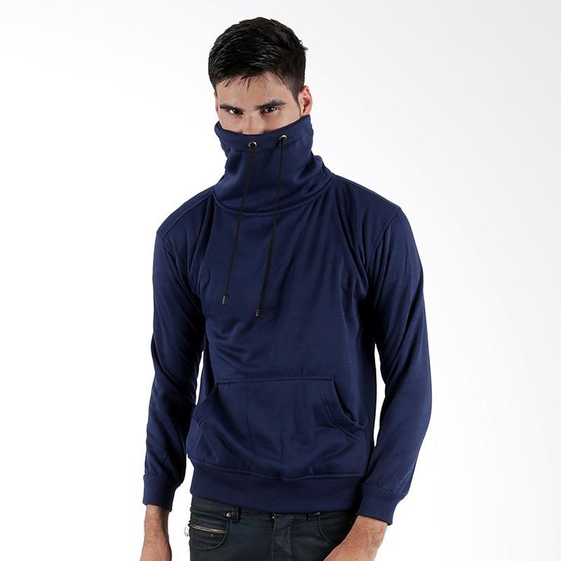 Jaket Hoodie Biru Dongker - Lera Sweater