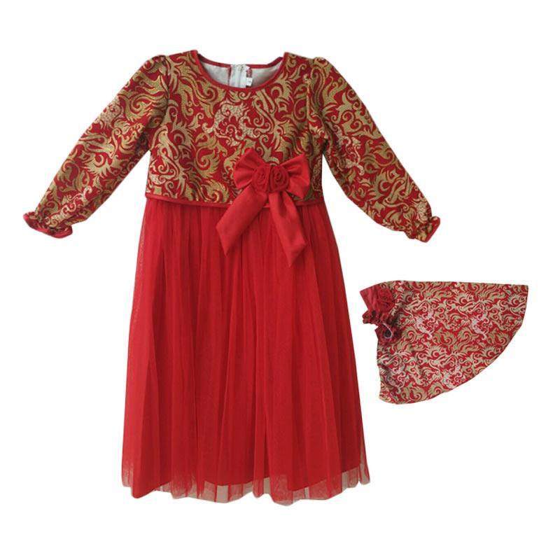 Jual Baby Zakumi Motif Batik Baju Gamis Anak Perempuan