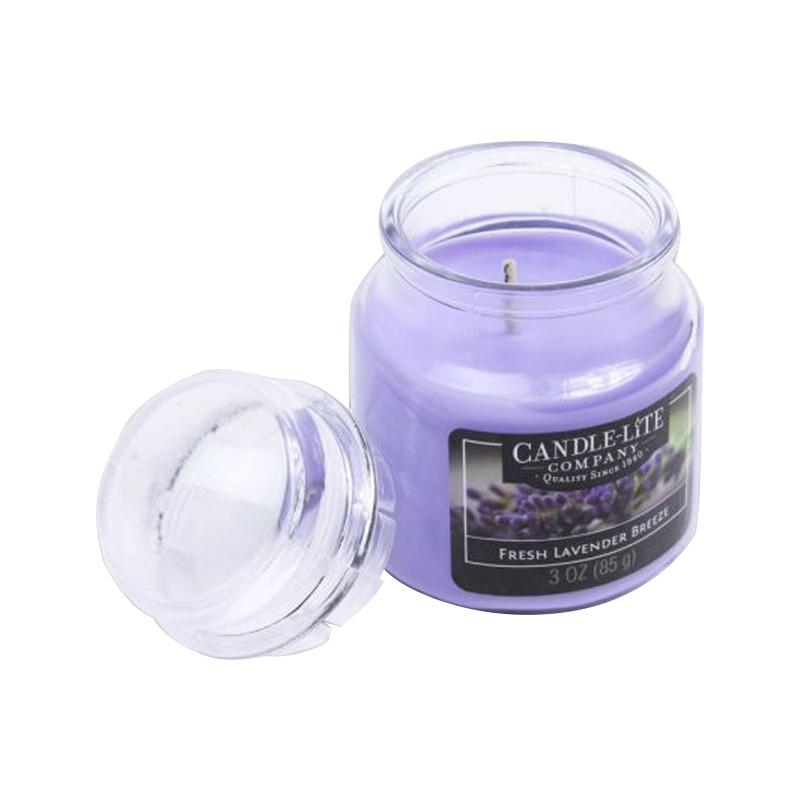 jual candle lite fresh lavender lilin aromaterapi 85 g online harga kualitas terjamin. Black Bedroom Furniture Sets. Home Design Ideas