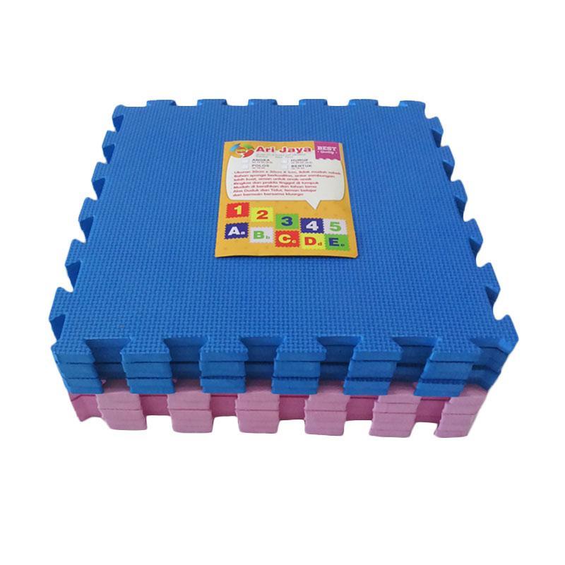 Jual Ari Jaya Polos Karpet Puzzle Biru Pink 1 Dus 10