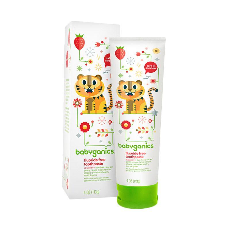 Jual Babyganics Toothpaste Strawberry Pasta Gigi 113 G