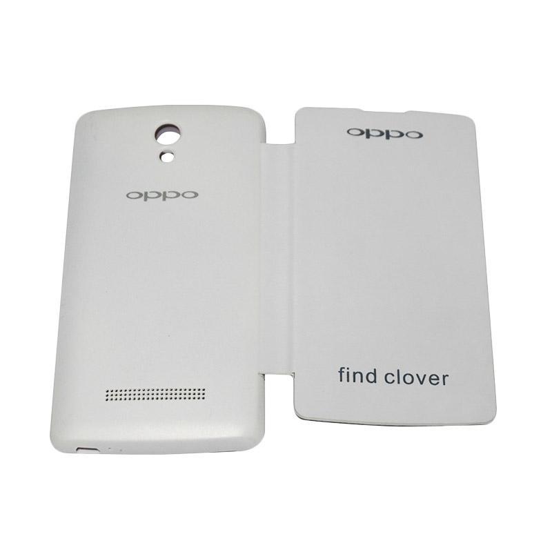 Bao da Oppo Find Clover R815 vân sần dạng flip cover