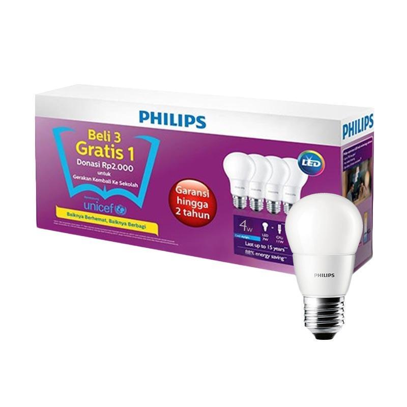 Jual Lampu LED Bohlam Philips 4w 4watt 4 W 4 Watt Beli 3