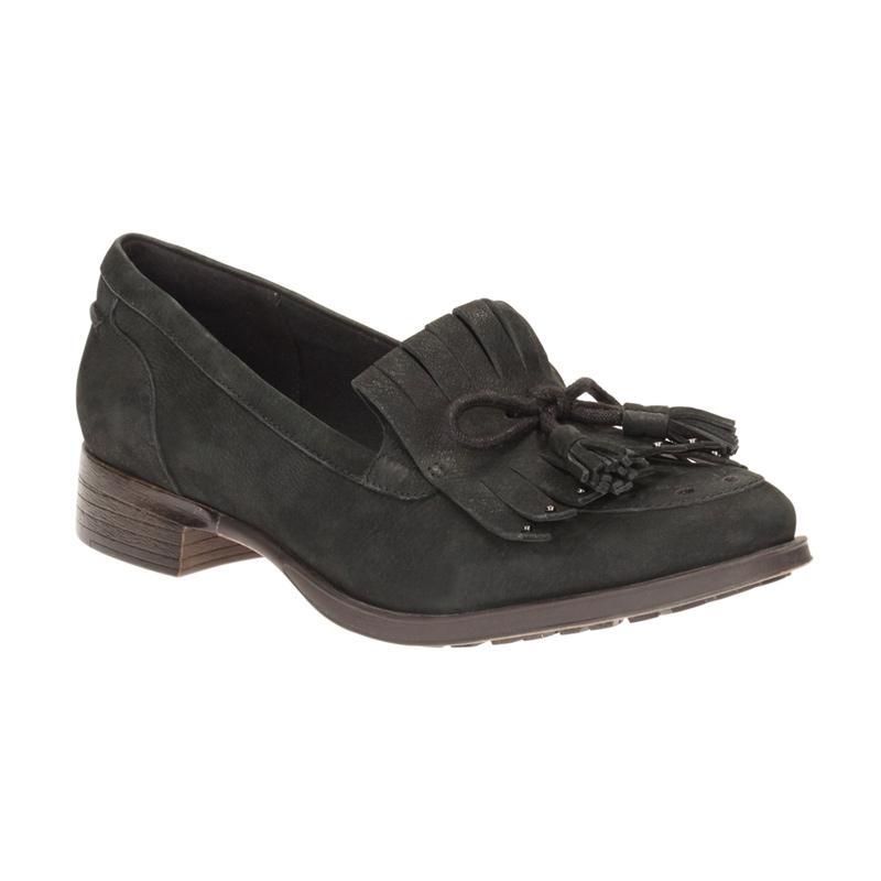 Jual Clarks Busby Lola Lea Flats Loafer Sepatu Wanita - Black Online - Harga & Kualitas Terjamin