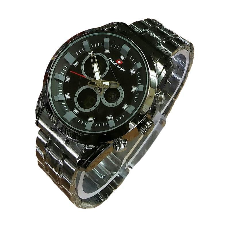 Jual Swiss Army SA5144M FB Dual Time Jam Tangan Pria