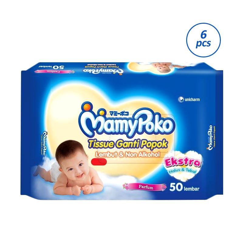 Jual Mamypoko Baby Wipes Premium Perfumed Tissue Basah 6