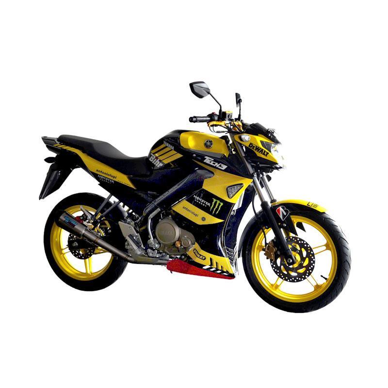 Jual yamaha vixion ks advance sepeda motor black yellow tech 3 online harga kualitas Advance motor