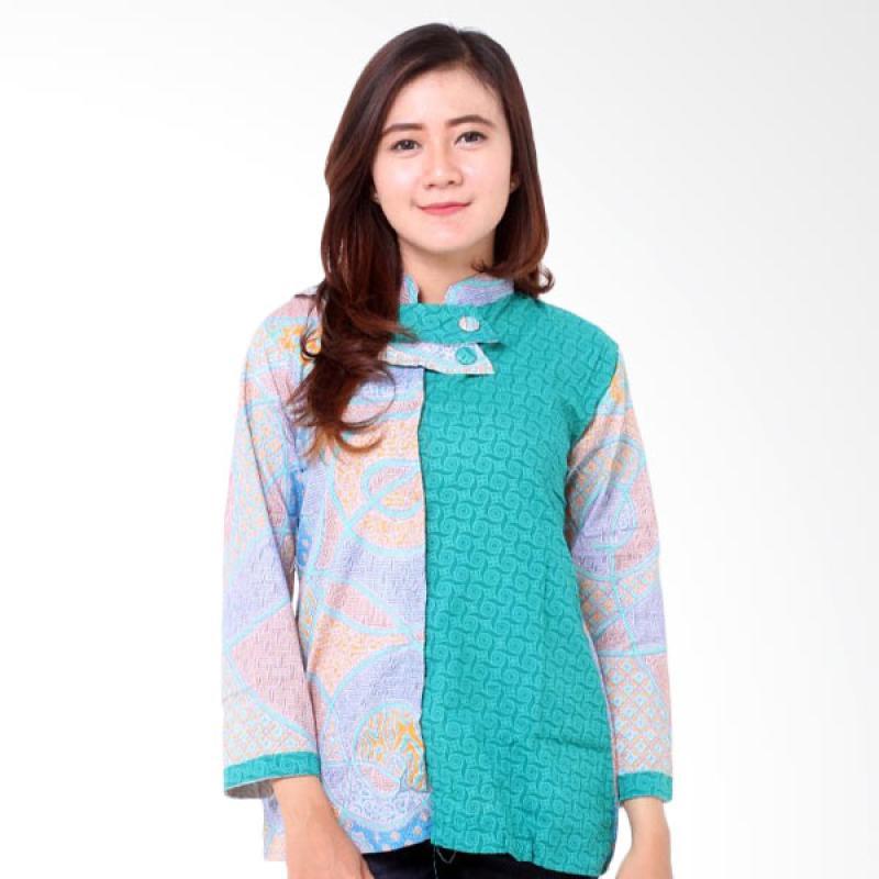 batik-distro_batik-distro-ba7969-blus-wanita-embos-shanghai---hijau ...