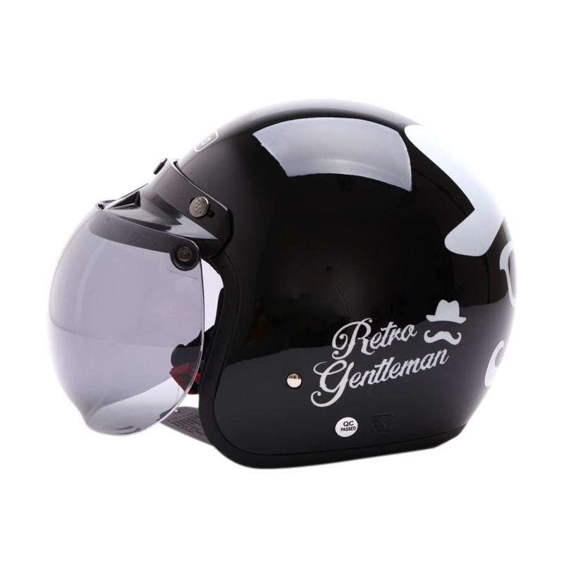 Jual WTO Helmet Retro Bogo Gentleman Helm Half Face