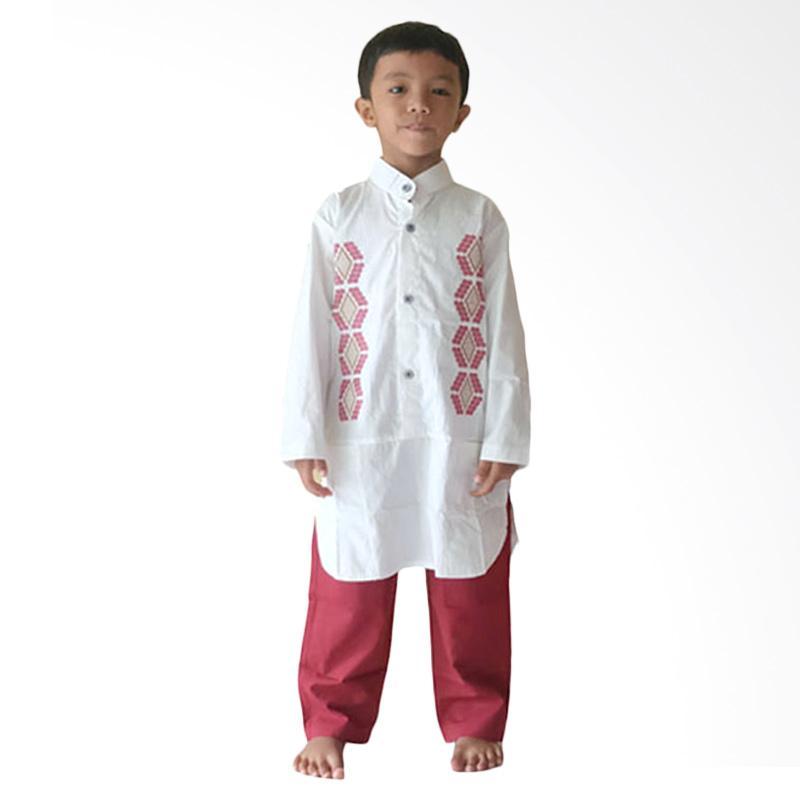 Jual Rafifa Model A Setelan Baju Koko Anak Putih Merah