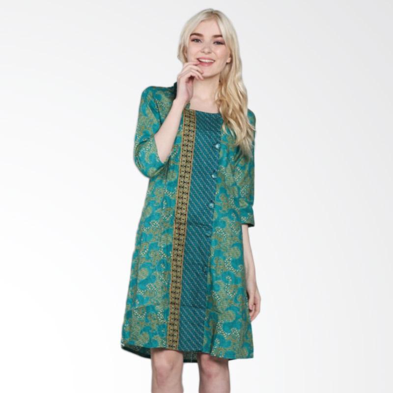 Blouse Batik Jogja - Lace Henley Blouse