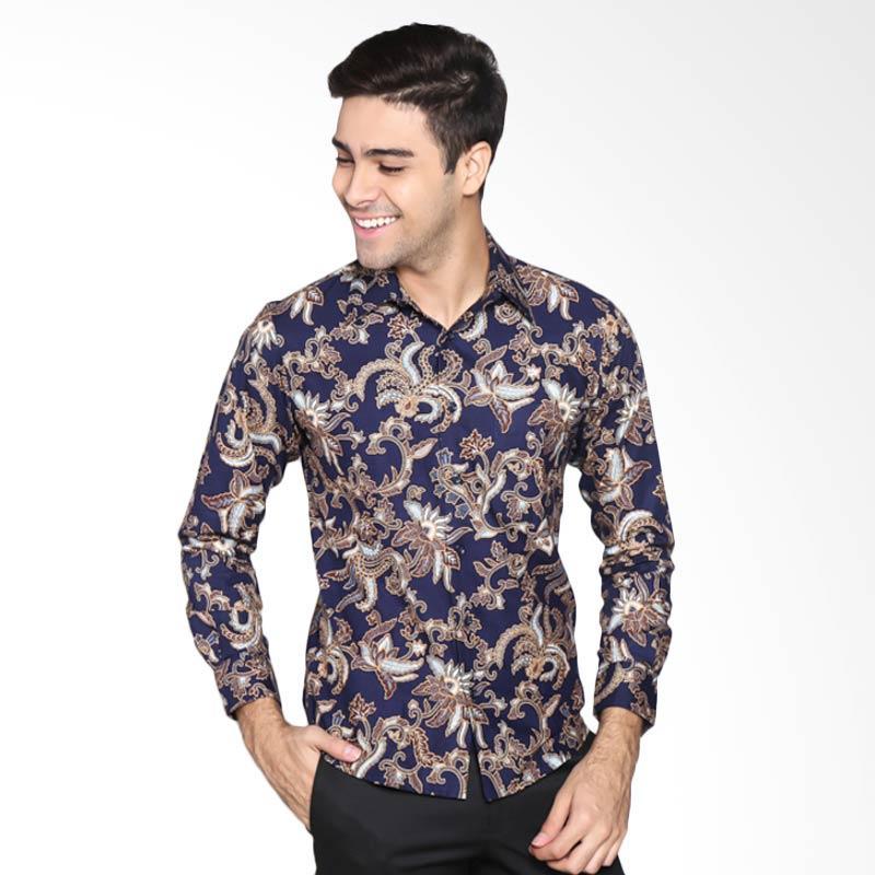 Batik Pekalongan Pria Panjang: Jual Parama Batik Opal Slim Fit Batik Pria Lengan Panjang