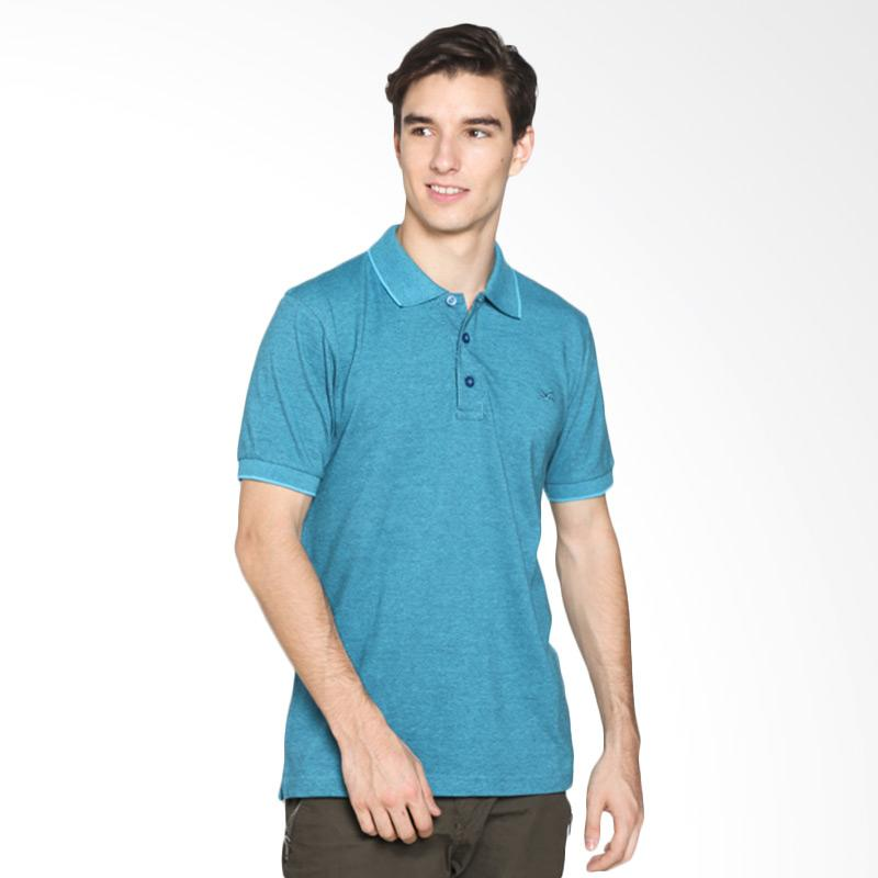 Jual carvil men 12 mst tea tl misty teal polo shirt pria for Mens teal polo shirt