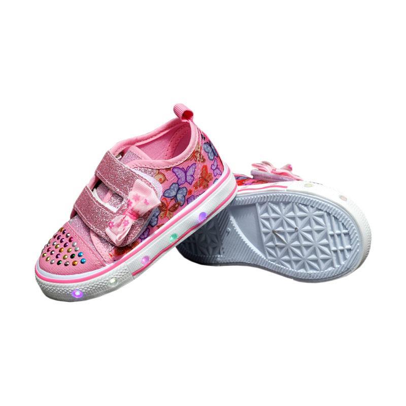 Jual Kipper Type Tokyo Lampu Sepatu Anak Perempuan - Merah Muda Online - Harga