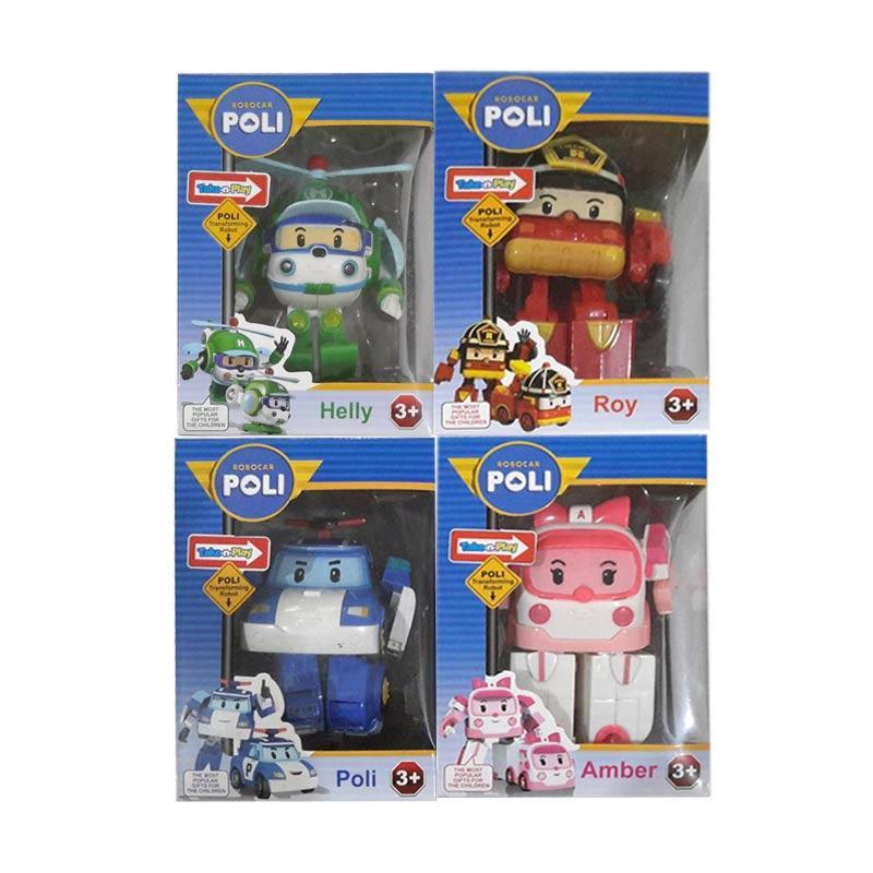 Jual tme robocar poli roy heli dan amber robot car set action figure 4 pcs online harga - Robocar poli heli ...