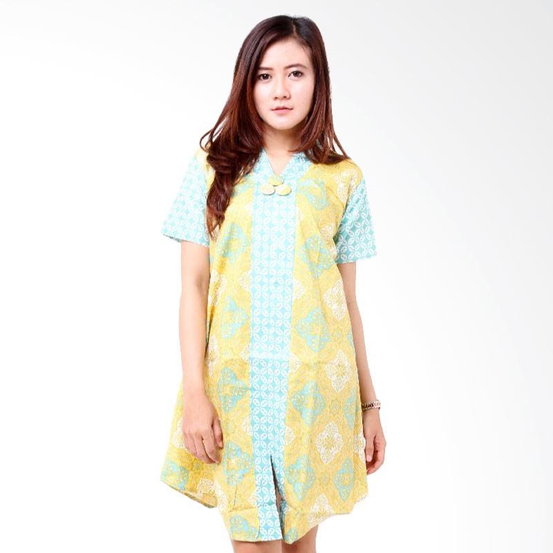 batik-distro_batik-distro-ba7744-dress-wanita-hiasan-kancing-pendek ...