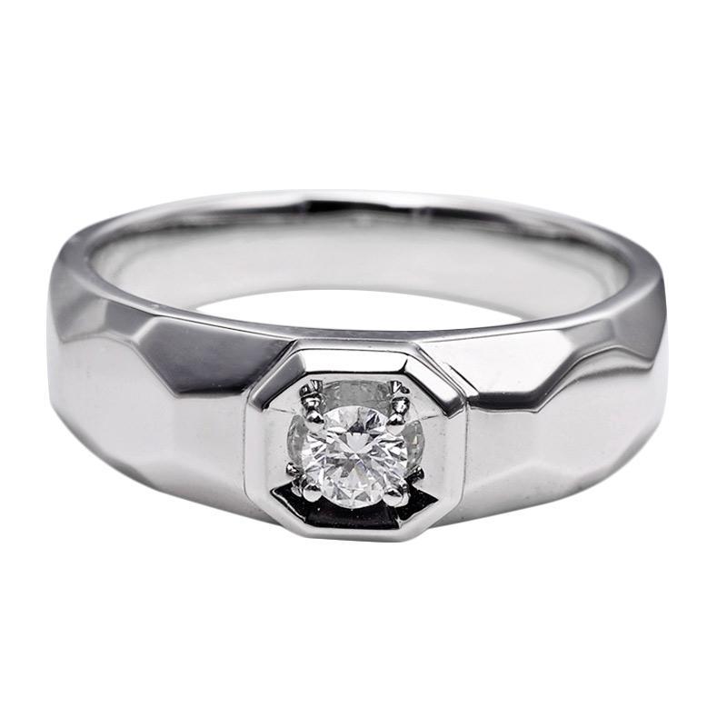 Jual Tiaria DHTXHJZ009 Perhiasan Cincin Emas Putih Dan