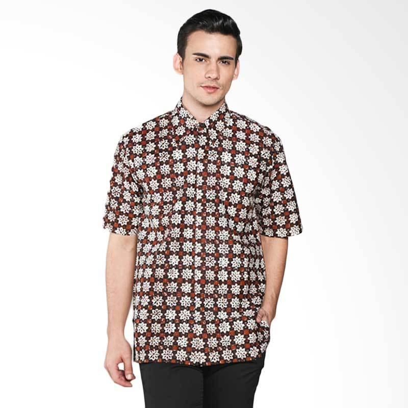 Batik Pria Tampan Com: Jual Batik Pria Tampan Sekar Ceplok Piring PKMPD-04081667P