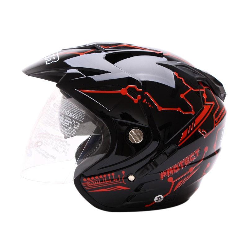 Jual MSR Helmet Impressive Protect Double Visor Helm Half