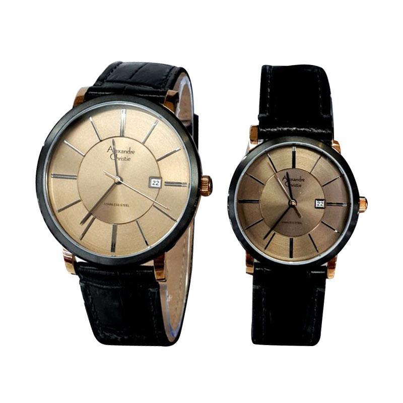 Jual Alexandre Christie AC 8344 Leather Strap Jam Tangan
