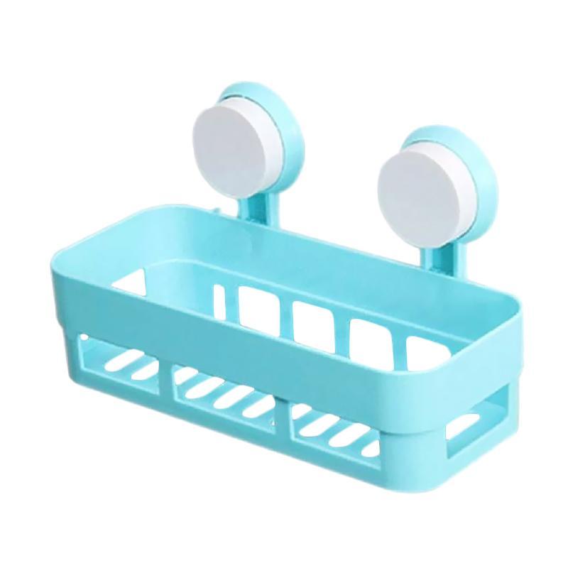 Jual HomeStuff untuk Tempat Sabun Kamar Mandi dan Dapur Rak Persegi Serbaguna - Biru Online - Harga & Kualitas Terjamin | Blibli.com