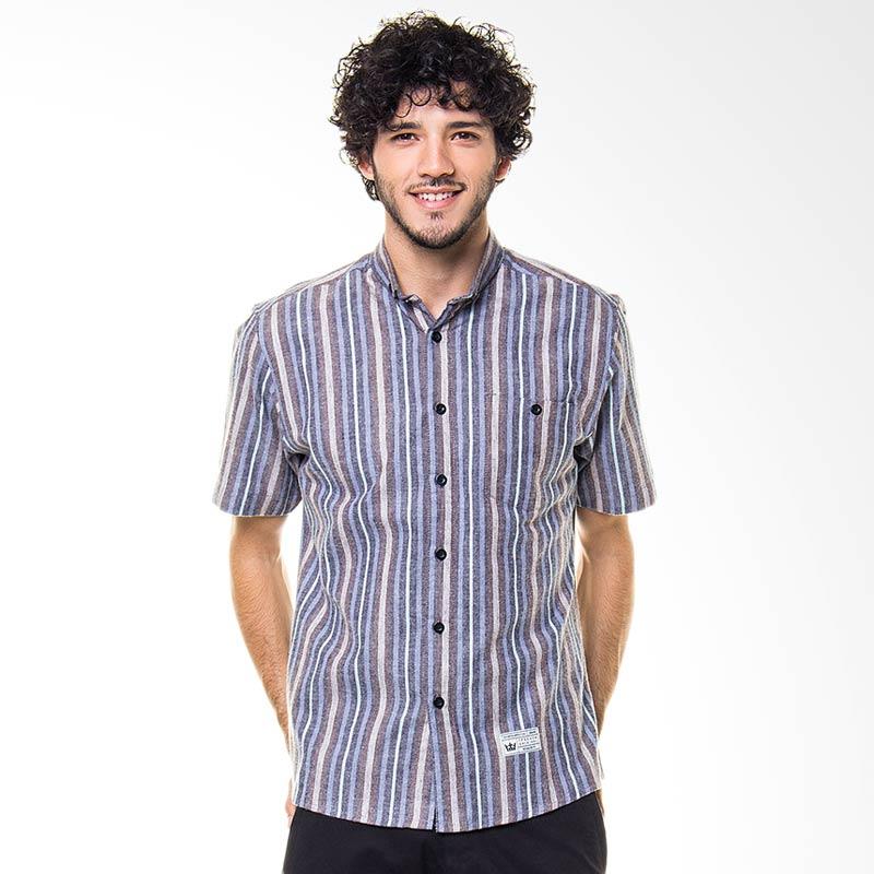 17seven Original Shortshirt Line Brown Kemeja Pria