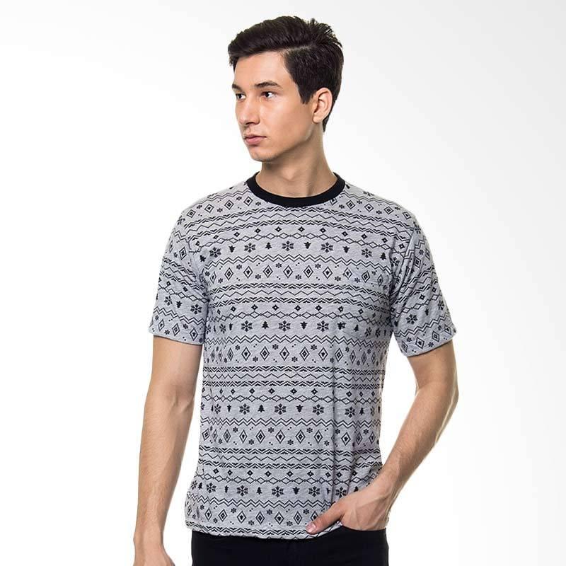 17SEVEN Original Tees Patt T-shirt Pria - Grey