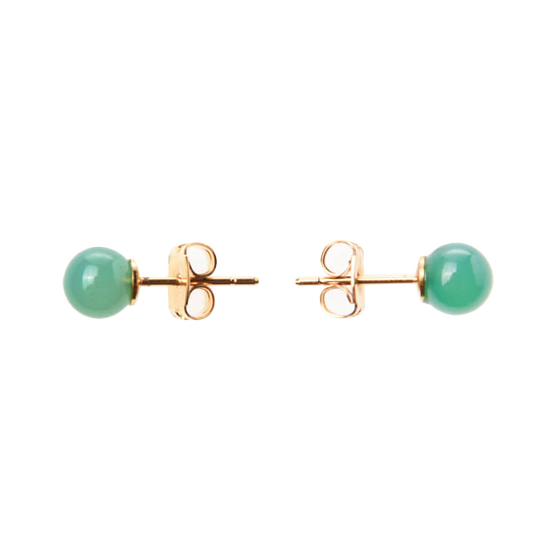 1901 Jewelry Beauty Jade Studs GW.1538.HR33GR Anting - Green