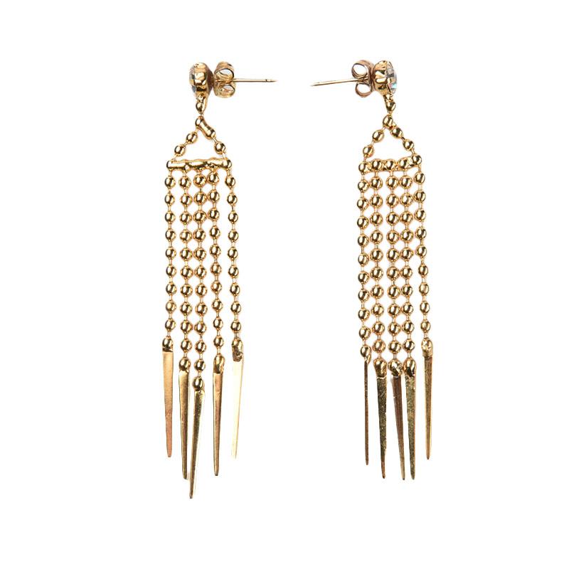 1901 Jewelry GW.1188.HR31 Anting Cordyline Studs [Lapis Emas 24k]