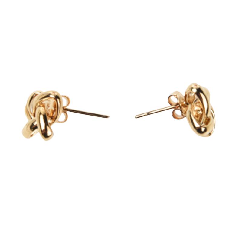1901 Jewelry GW.1345.HR32 Flower Studs 1345 Anting [Lapis Emas 24k]