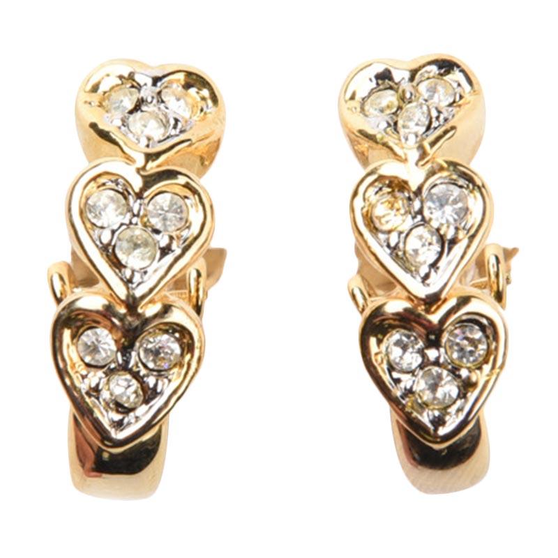 1901 Jewelry GW.2649.HR44 Anting Heart Clip 2649 [Lapis Emas]