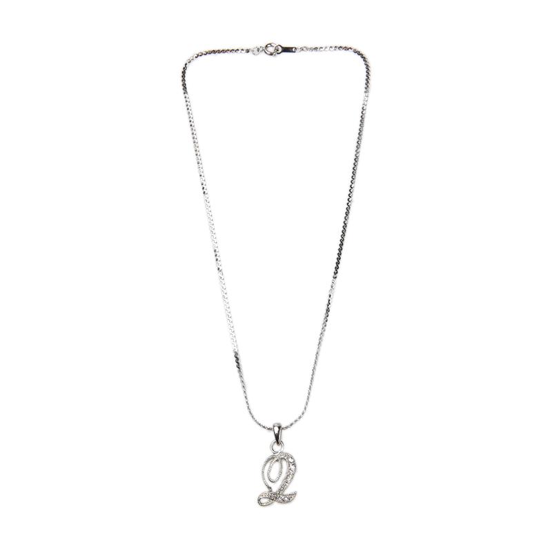 1901 Jewelry KL.911.HR67Q 911 Q Kalung - Silver Itali